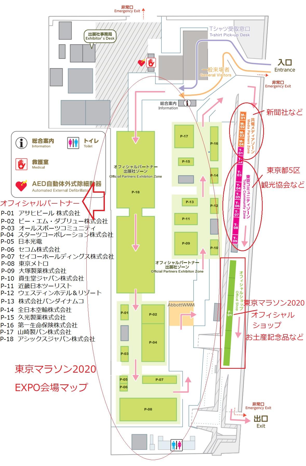 東京マラソン2020EXPO会場マップ