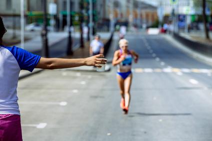 東京マラソンボランティア給水係